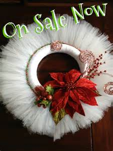 Christmas Wreath Made with Tulle
