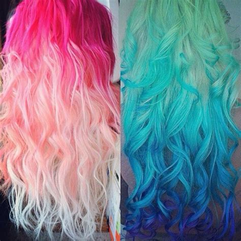 Very Bright Hair But Beautiful Ombre Pink And Blue