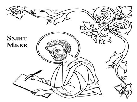 Saint Coloring Page - Democraciaejustica