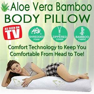 aloe vera bamboo body pillow as seen on tv gifts With bamboo body pillow as seen on tv