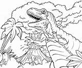 Volcano Coloring Prehistoric Printable sketch template