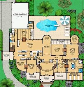 house, plan, 5445-00105