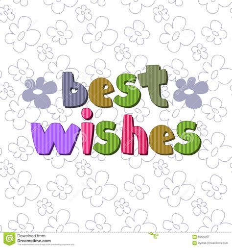 best wishes phrase the original spelling of the phrase best wishes stock
