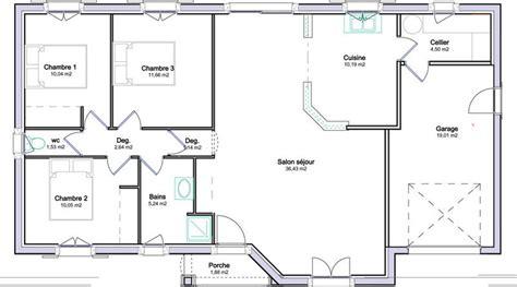plan de maison plein pied gratuit 3 chambres plan de maison plein pied gratuit 3 chambres