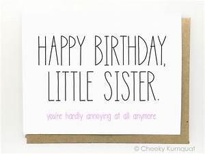 Funny Birthday Card Birthday Card for Sister by CheekyKumquat