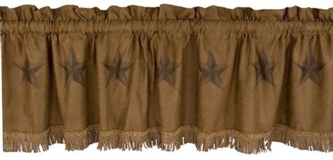Western Luxury Star Valance Hiend Accents Curtain Fringe