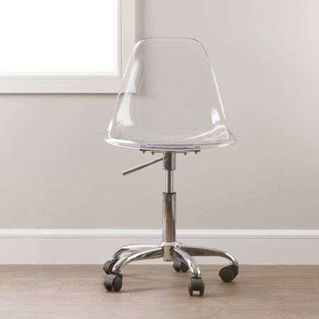 south shore clear acrylic office chair  wheels