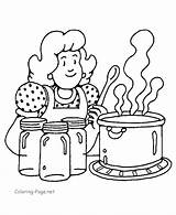 Coloring Cooking Popular sketch template