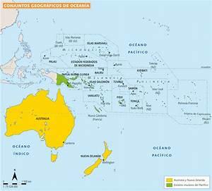 Mapa De Oceania Con Paises
