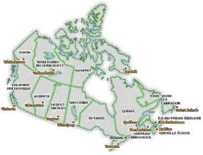 Map Canada Provinces and Territories