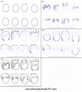 How to Draw Anime Hair - Male printable step by step ...