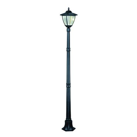 vetro led 80 quot black solar outdoor post light at menards 174