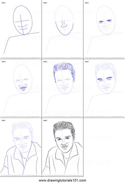 draw elvis presley printable step  step drawing