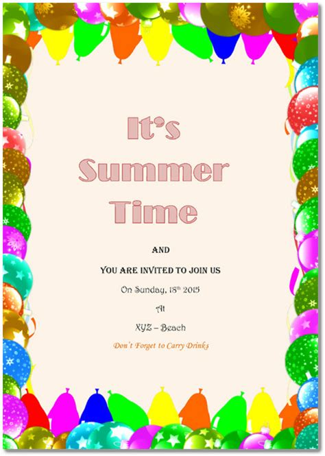 holiday party invitations  templates   word