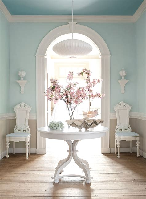 williamsburg collection traditional blue foyer interiors