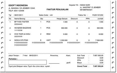 Herunterladen Contoh Nota Penjualan Barang Elektronik