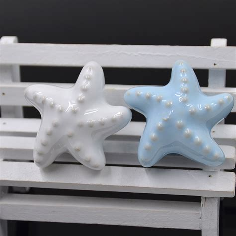 White Starfish Cabinet Knobs by 1 Pc Ceramic Starfish Dresser Pull Cabinet Knob Sea