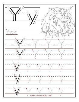 printable letter  tracing worksheets  preschool