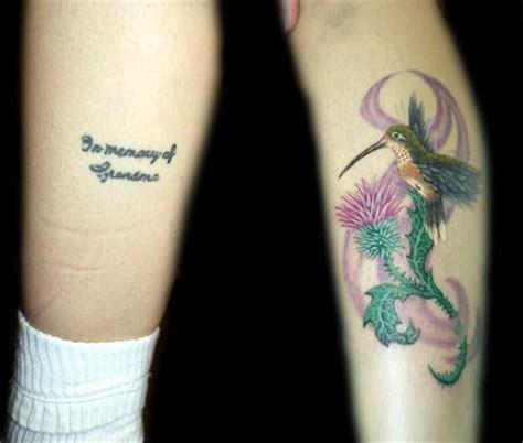 hummingbird cover up tattoo color realistic hummingbird coverup tattoo by angela leaf