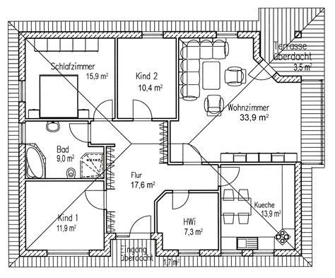 Grundriss Wohnung 120 Qm by Bungalow Grundriss 120qm Haus In 2019 Grundriss