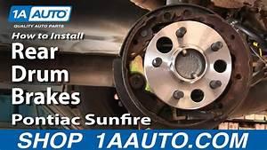 How To Replace Brake Drum 95-02 Pontiac Sunfire