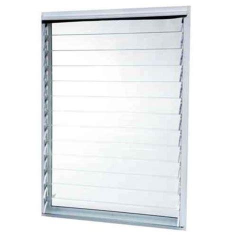 tafco windows      jalousie utility louver aluminum screen window white