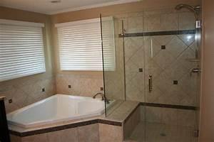 Bathroom, Corner, Whirlpool, Tub, Shower, Combo, Small, Deep