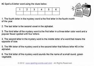 Spelling Brain Teasers For Kids