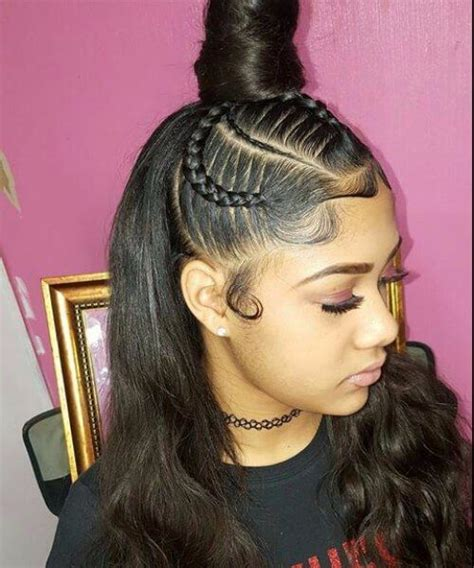 Sew In Hairstyles With Braids by Top Bun Sew In Hairstyles Projects To Try Hair