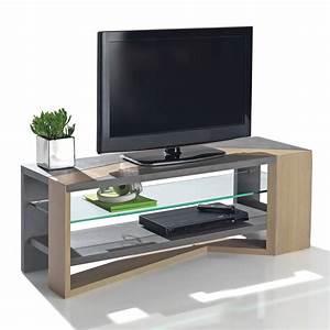 Table Pour Tv : meuble console pour tv meuble tele d angle design ~ Teatrodelosmanantiales.com Idées de Décoration