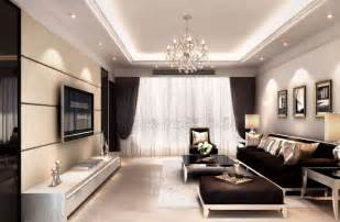 livingroom lights interior decoration living room rendering with tv wall sofa and light 3d house