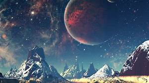 aq10-dream-space-world-mountain-sky-star-illustration