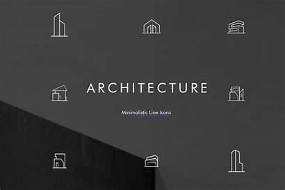 Architecture Icon Minimal Line Pack Psd Creativetacos