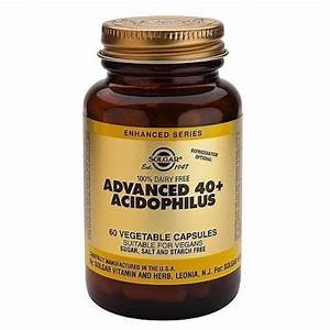 Solgar Advanced 40  Acidophilus 60 Vegetable Capsules