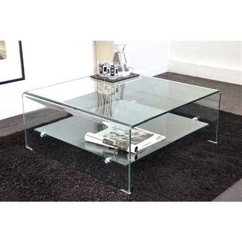 table basse en verre qui monte