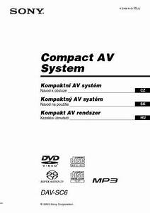 Sony Dav Sc6 Home Theater Download Manual For Free Now