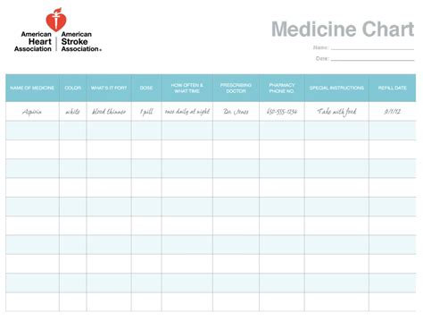 daily medication schedule templates word excel formats