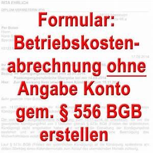 Abrechnung Heizkosten Ohne Zähler : mustertexte betriebskosten nebenkostenabrechnung muster ~ Themetempest.com Abrechnung