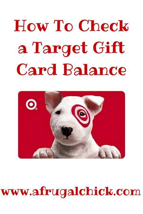 Check My Target Gift Card Balance