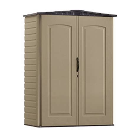 Rubbermaid Vertical Storage Shed 53 Cubic by Rubbermaid Plastic Small Outdoor Storage Shed
