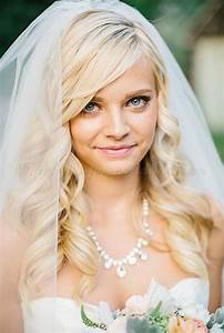 Wedding Caps And Veils Hair Down Wedding Hairstyle With