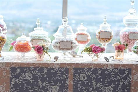 Wedding Candy Bar Apothecary Jars Buffet Design