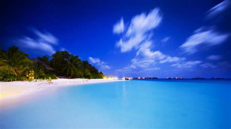 马尔代夫晚上风景壁纸高清大图预览1920x1080_风景壁纸下载_彼岸桌面