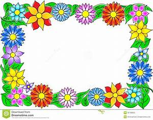Flower border stock vector. Illustration of flourish ...
