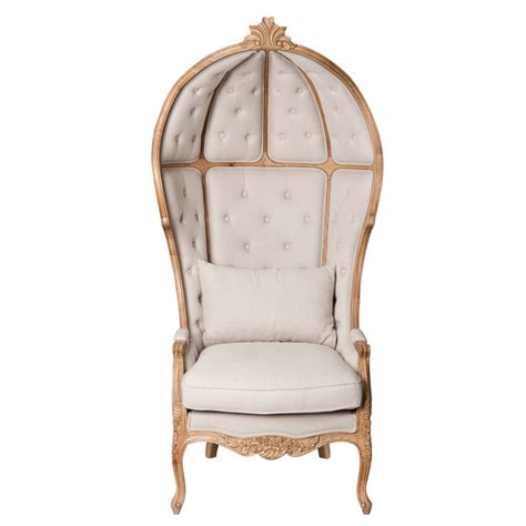 fauteuil lin carrosse maisons du monde
