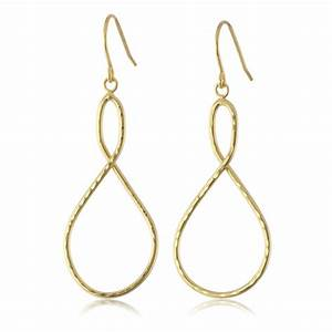 Simple Style Handcrafted Hammered Number Eight Gold Color ...