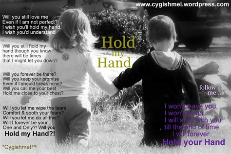 Just Hold My Hand Quotes