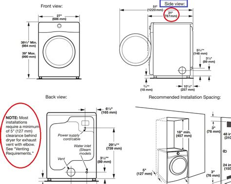 washer dryer sizes washer and dryer cabinet dimensions home furniture