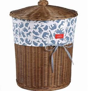 Boy, U0026, 39, S, Fabric, Trimmed, Wicker, Laundry, Basket, By, Em, U0026lu