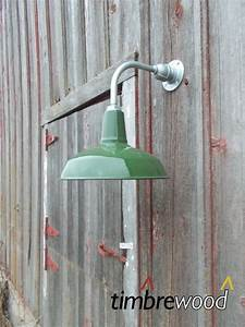 vintage barn 14quot dome shade green porcelain gas station With antique barn lights for sale